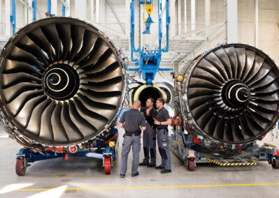 Turbinen bei N3 am Erfurter Kreuz | © N3 Engine Overhaul Services GmbH & Co. KG