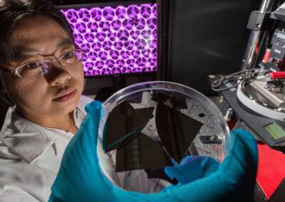 3D-Nanostrukturierung an der TU Ilmenau | © Michael Reichel/TU Ilmenau