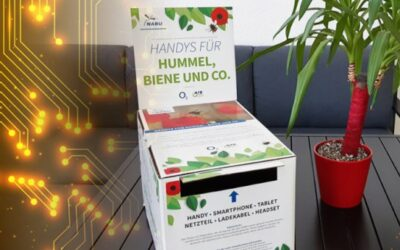 """Mit der Aktion Motto """"Handys für Hummel, Biene und Co."""" setzt sich Ilmenauer Unternehmen für Nachhaltigkeit ein"""