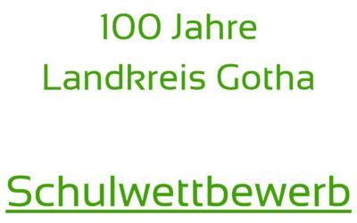 """Schülerinnen und Schüler aufgerufen: Beteiligt euch am Wettbewerb zu """"100 Jahre Landkreis Gotha"""" – Anmeldeschluss ist der 25. Oktober"""