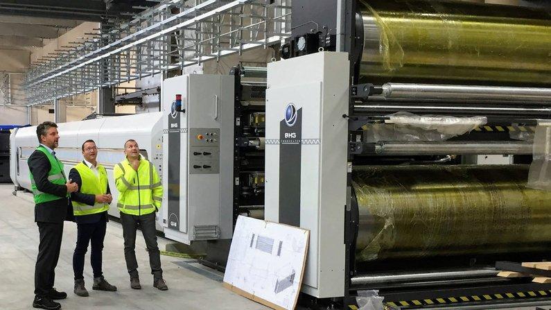 Bürgermeister Frank Spilling informiert sich über Erweiterung von DS Smith Packaging Arnstadt GmbH